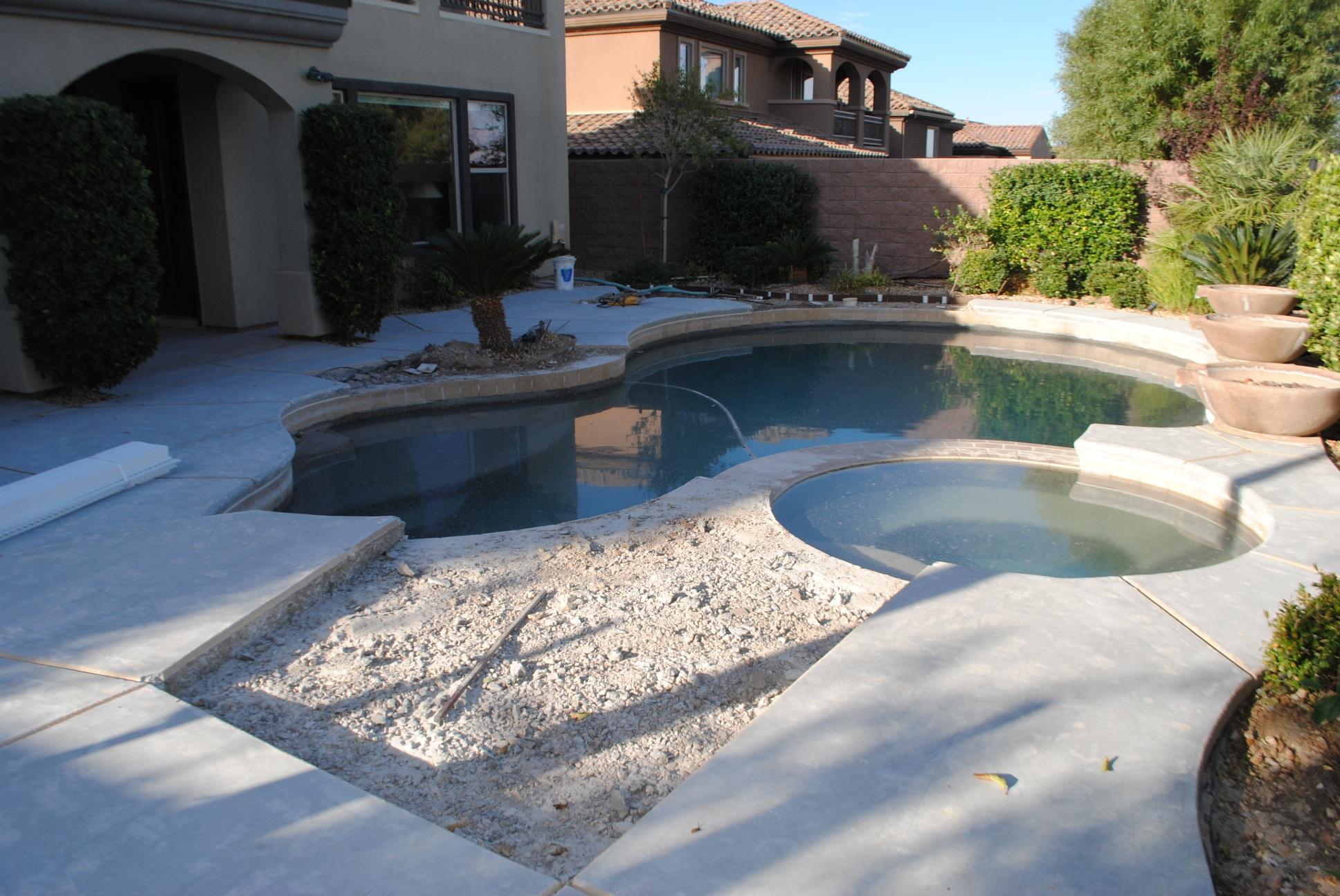 Pool Deck Remodel (during renovation)