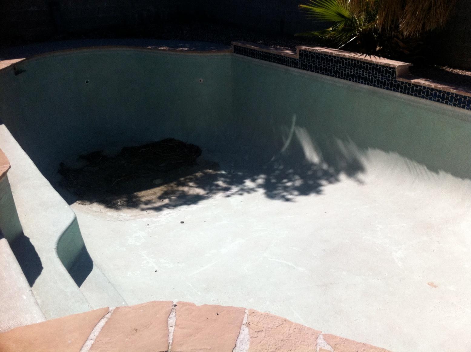 Pool Replaster (before)